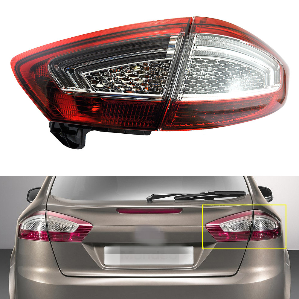 1Set/2Pcs Inner+Outer Rear Lights Tail Lights Taillamps Right Side for Ford Mondeo Fusion 2011-2012 1 pcs lh left side outer taillamp tail light rear lamp light for ford mondeo 2011 2012