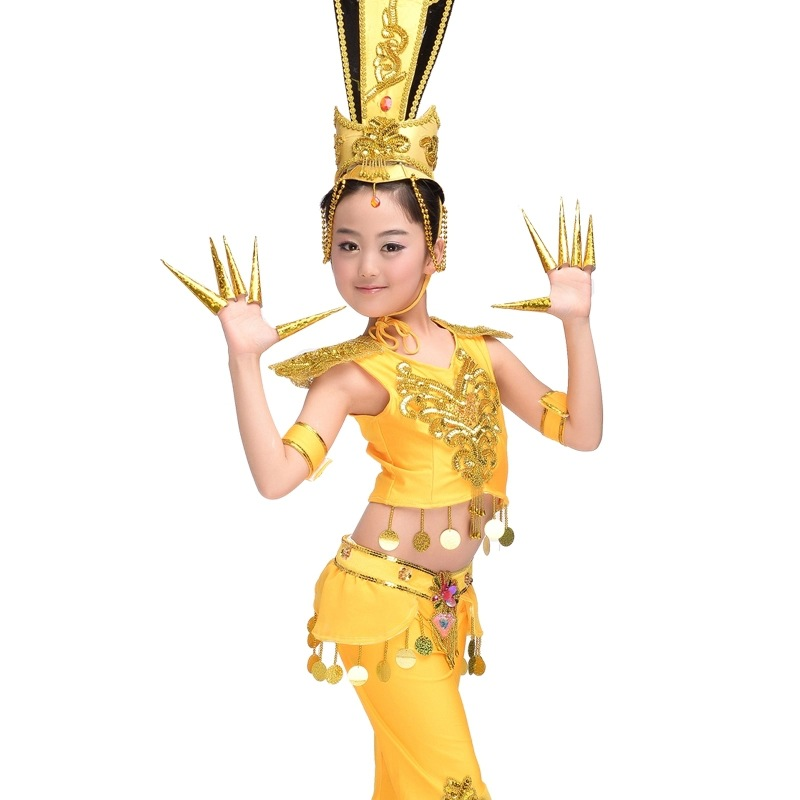 Of Guanyin Dance Clothes Classical Dance Performance National Dance Costume Suit Children Dance