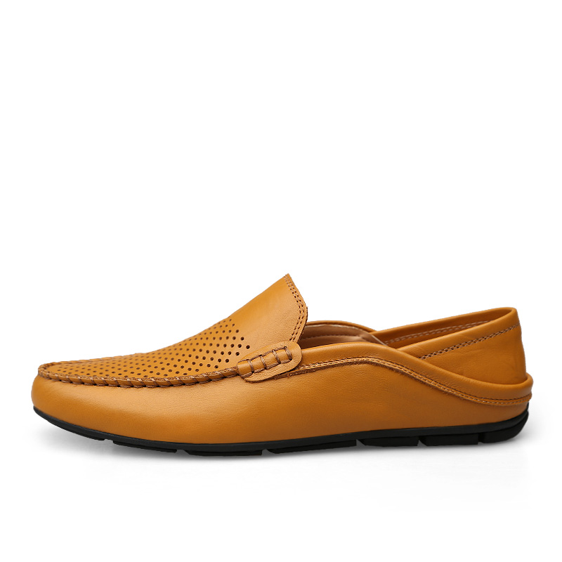 Mocassins Glisser Hollow De En D'été Respirant Shoes Creux Shoes Shoes Black blue Marque Luxe Brown Casual Shoes Chaussures Cuir Jkpudun Bateau Shoes Sur hollow Véritable brown Italien Hommes black Blue 50ZqTxzqn7