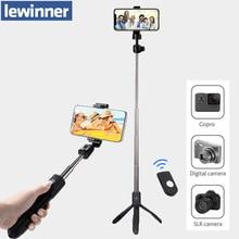 Lewinner K05 Selfie מקל חצובה Stand 4 ב 1 להארכה חדרגל Bluetooth מרחוק טלפון הר עבור iPhone X 8 אנדרואיד gopro
