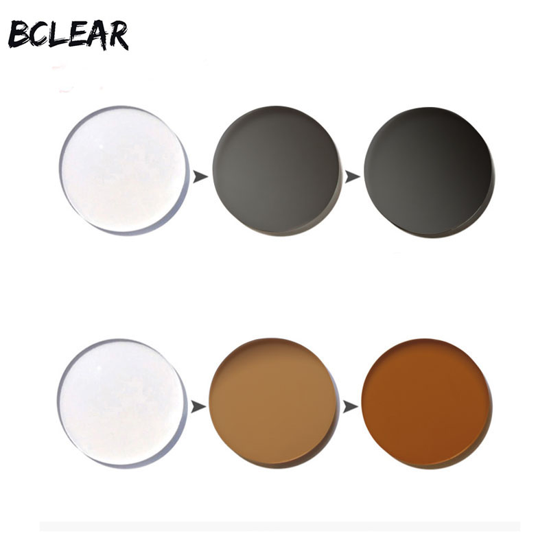 BCLEAR 1 61 Index Aspheric Transitions Photochromic Lenses Sun with Degree Single vision lens Photogray Photobrown