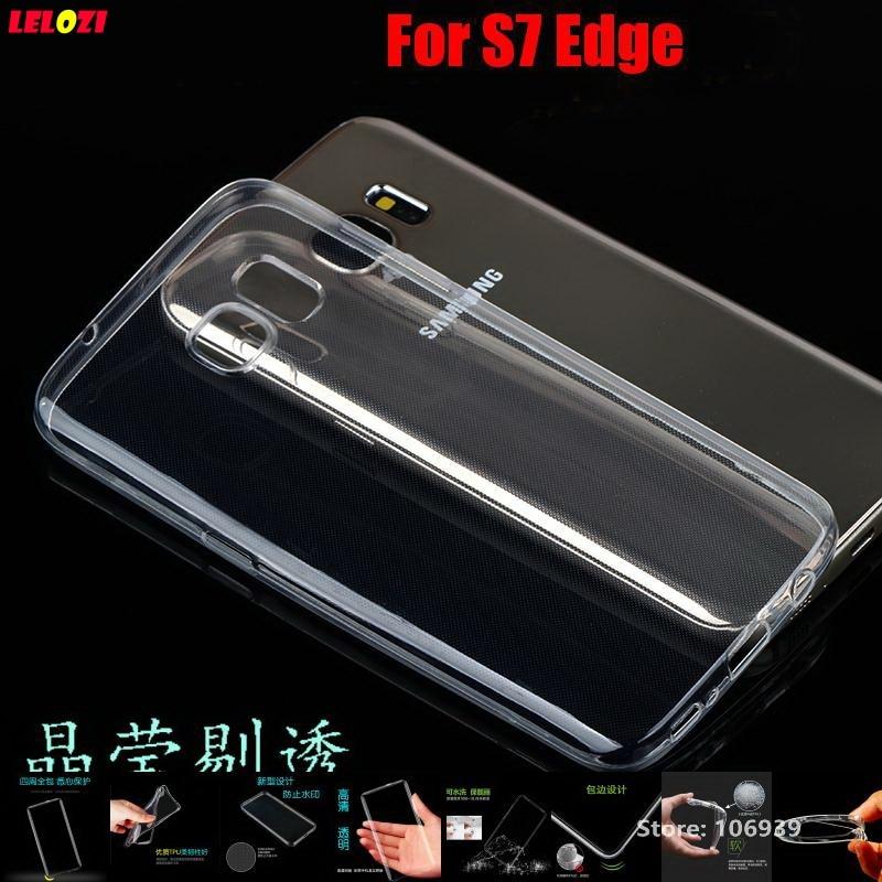 LELOZI Soft Transparent TPU Clear Silicone Ultra Thin Fundas Etui Case Cover Capa Capinha For Samsung Galaxy S7 Edge S7Edge G935