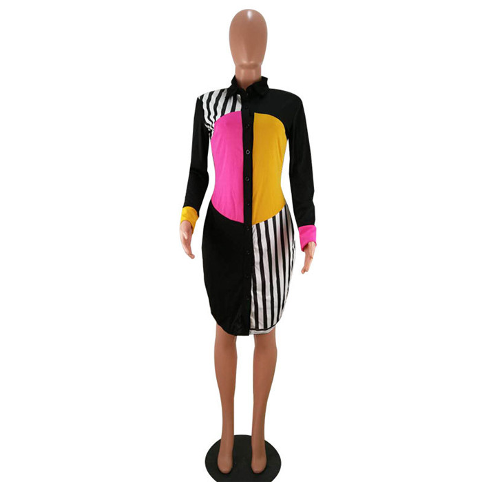 social listrada preta botões vestido de vestido