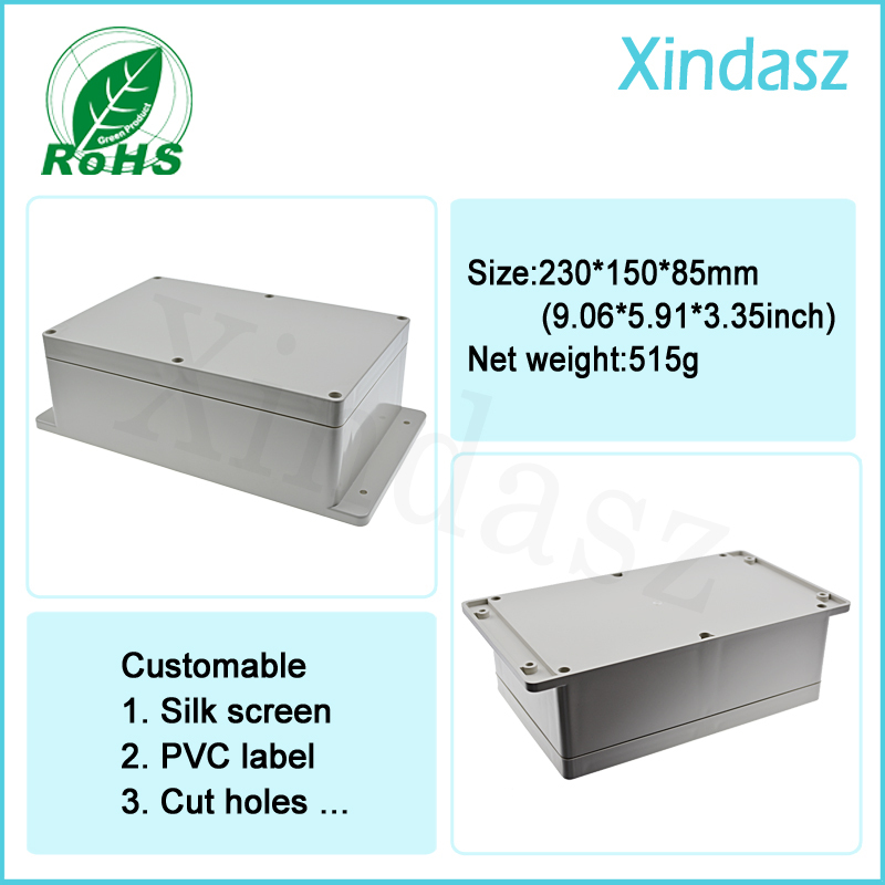 <font><b>230*150*85mm</b></font> wall mounted plastic waterproof enclosures plastic project box waterproof junction box image