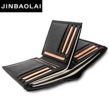 купить Black Purse For Men Genuine Leather Men's Wallets Thin Male Wallet Card Holder Cowskin Soft Mini Purses Luxury Design Wallet Men по цене 747.71 рублей