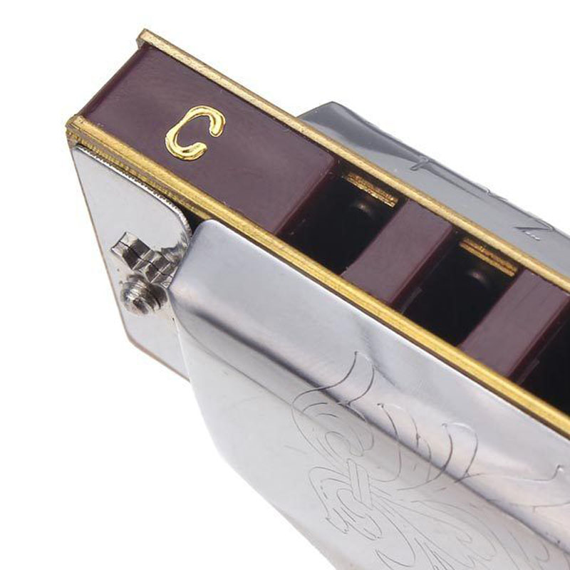 Suzuki Folkmaster 1072 Standard Beginner Diatonic Blues Harmonica Gaita 10 Holes Key of A C D E F G Musical Instrument