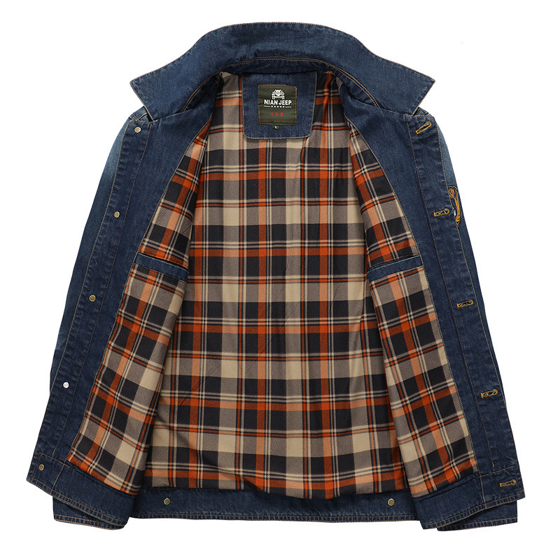 Denim Jackets Men Big Size Mens Casual Jackets Spring Autumn New Thin Regular Cotton Fashion Solid Young Turn-Down Mens Coats