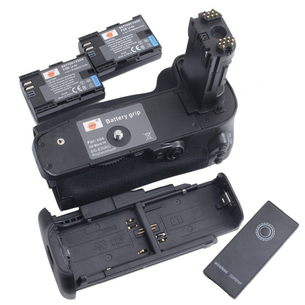 bilder für DSTE BG-E20 Batteriegriff + 2 stücke LP-E6 akku für CANON EOS 5D Mark IV 5DIV 5D4 Digitalkamera