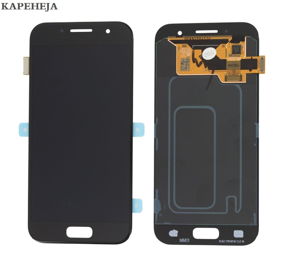 Super AMOLED LCD Display For Samsung Galaxy A3 2017 A320 A320F LCD Display Touch Screen Digitizer AssemblySuper AMOLED LCD Display For Samsung Galaxy A3 2017 A320 A320F LCD Display Touch Screen Digitizer Assembly