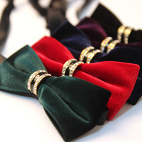 High Quality Fashion Men S Suits Cotton Bowtie For Wedding Solid Color Bow Tie For Men