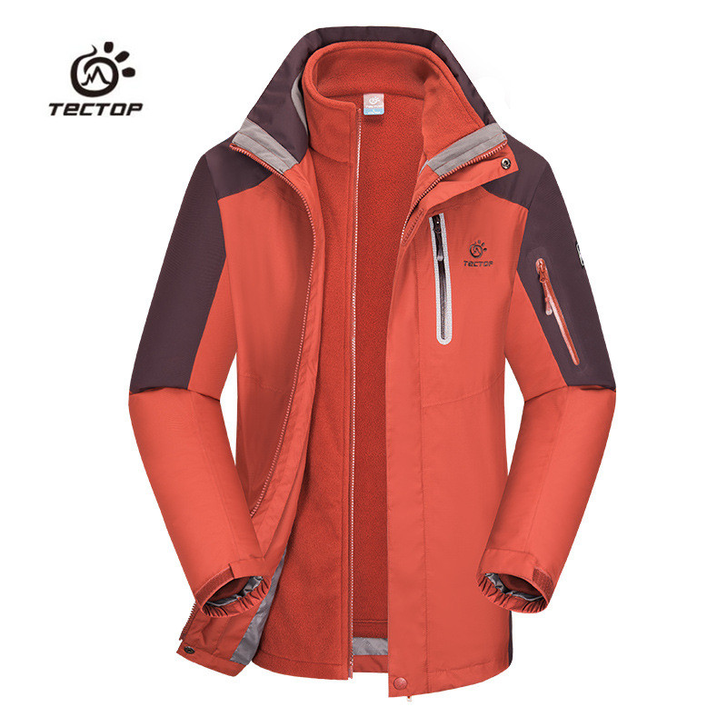 2016 Brand Winter 3 in 1 Hiking Jackets Men Outdoor Sport Waterproof Warm Two-piece Coats For Travelling Skiing Hiking S-XXXL 2017 new couple outdoor sports jackets men s three in one excursions hiking hooded women s two piece ski clothes fishing hunting
