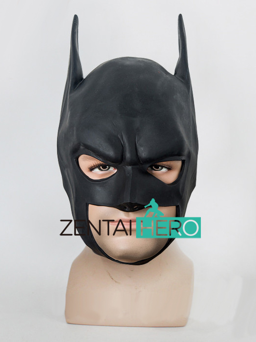 Free Shipping Adult Batman Latex Full Mask The Dark Knight Rises Batman Hood MK503
