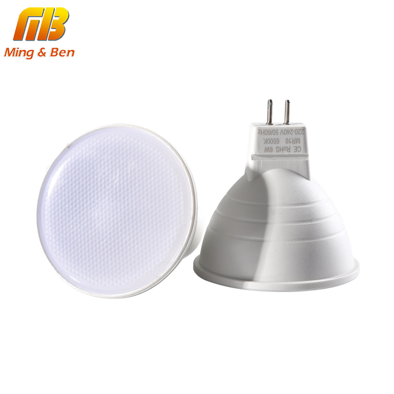 [MingBen] GU10 MR16 LED Spotlight 6W 220V 230V Led Lamp Lampada LED Bulb Led Energy Saving Home Lighting Warm White Cold White 15 w e27 cool white 15leds 1w highpower led energy saving cfl bulb lamp spotlight 220v 240v