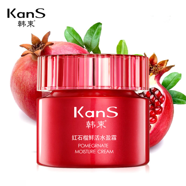 Kans Pomegranate Moisture Cream 50g Skin Whitening Moisturizing Hidratante Anti Aging Fade Spot Detox Day Creme Beauty Face Care