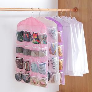 HOT sale Storage Box 16 Pockets Clear Home Hanging tool Bag Socks Bra Underwear Rack Hanger Storage Organizer