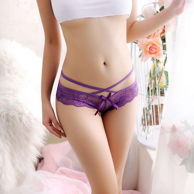 1PC Sexy WomenG-strings Thongs  Panties Lace Floral Seamless Underwear Panties Thongs Spring Summer Nightwear