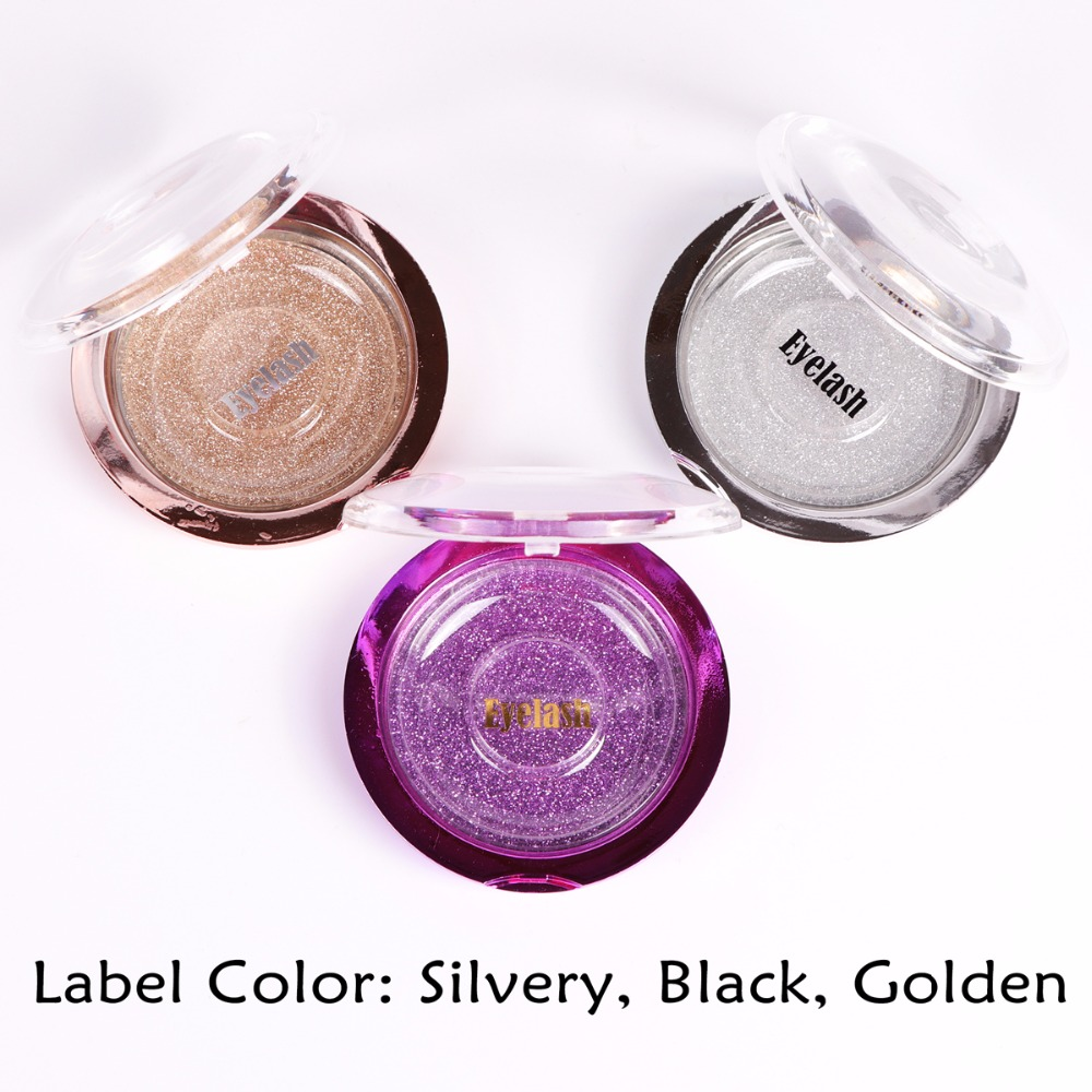 Stamp or Sticker Label or Letters on Round Lash Case for Small Lashes Business Start Professional Label Customized Service