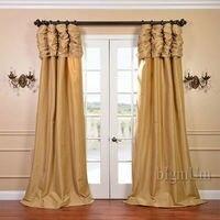 Luxe Gordijnen voor luxe room Window Aangepaste Klare Raamdecoratie/Gordijnen voor Woonkamer/Slaapkamer Effen Kleur Panel