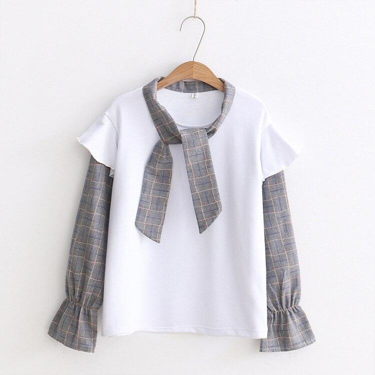 2018 nuova usura di estate T-Shirt stampata delle donne di usura degli studenti sciolto montaggio di disegno del fumetto sottile e regolare che basa la camicia