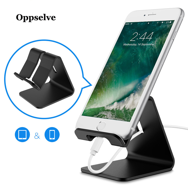 Oppselve Mobile Phone Holder Stand Aluminium Alloy Metal Tablet Stand Universal Holder For IPhone 11 XS Max Xr X Samsung S9 S8