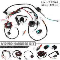 8 In 1 Motorcycle Ignition 125cc 150cc 250cc Complete Wiring Harness CDI STATOR 6 Coil Pole Ignition Switch for Motorcycle ATV