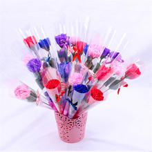 Artificial Flowers Single Carnation Eternal Soap Flower Wholesale 520, Christmas Event Creative Small Gift PromotionL02