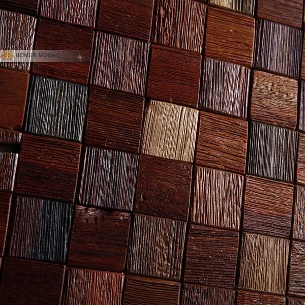 """2x12"""" natural texture ship wood wall mosaic tile, rustic ..."""