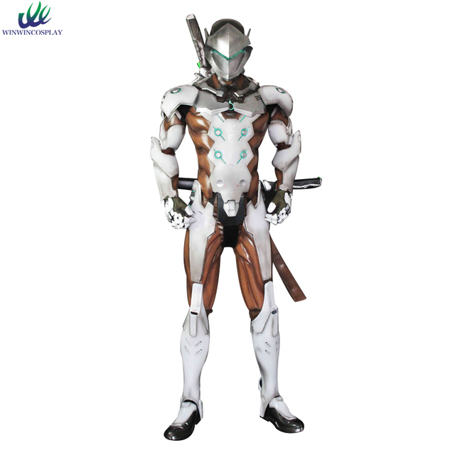 Game OW Over And Watch Genji Cosplay Full Set With Weapon Mask Shoes ...