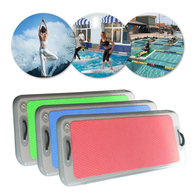 2MX0.62MX0.1M Outdoor Water Sports Inflatable Floating Pontoon Pool DWF Gymnastics Yoga Mats Inflatable Gym Mat