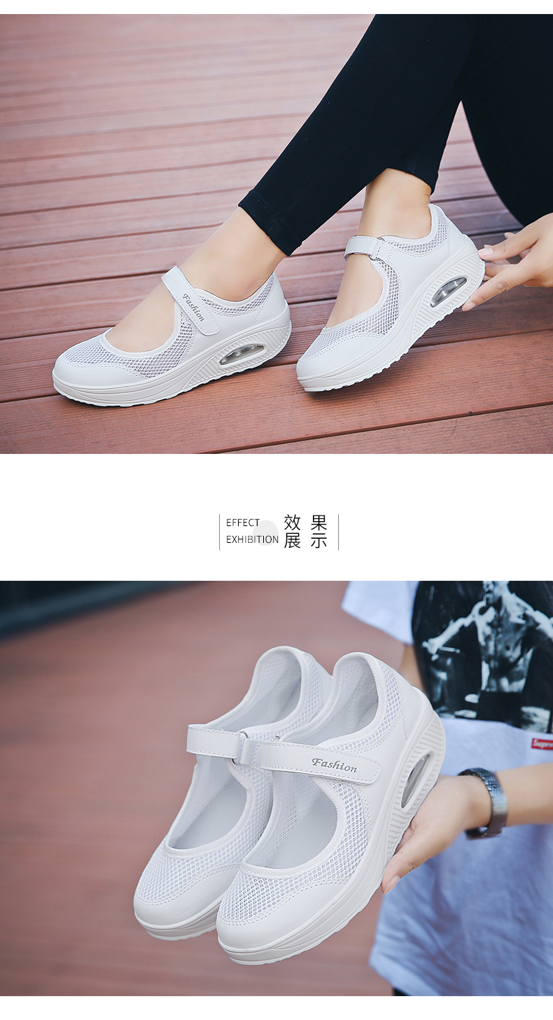 STS Brand 2019 New Fashion Women Sneakers Casual Air Cushion Hook & Loop Loafers Flat Shoes Women Breathable Mesh Mother`s Shoes (16)