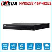 Dahua NVR NVR5216-16P-4KS2E con 16 canales NVR 16 puerto de PoE soporte de dos vías de conversación e-POE red Video Dahua grabadora para sistema de CCTV