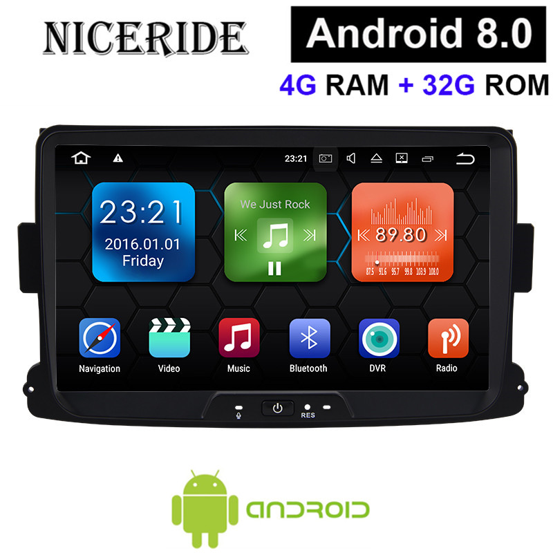 Touch Screen Android 8 0 Octa Core 4gb Gps Navigator Radio