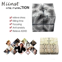 HIINST Colorful Five Style Luxury EDC Infinity Cube Mini For Relief Fidget Anti Anxiety Stress Funny