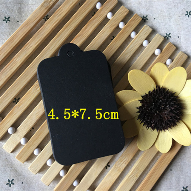 150pcs 4.5x7.5cm Black Cardboard Gift Tags Wedding Scallop Label ...
