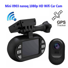 Бесплатная Доставка! Оригинал Мини 0903 nanoq 1080 P HD Wi-Fi Автомобилей Даш Cam Конденсатор 7 Г Ночного Видения NT96655 IMX322 GPS