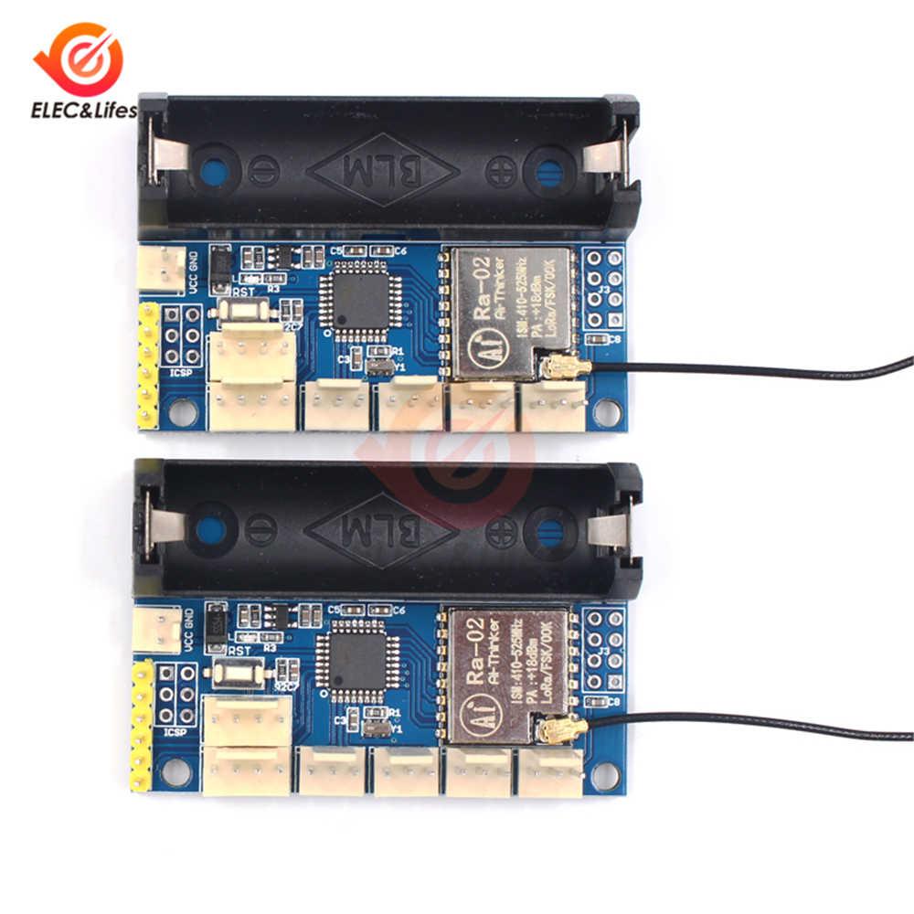 Ra-02 LoRa راديو عقدة V2.0 433 MHz SX1278 البث اللاسلكي وحدة أساس ATmega328P I2C 3.7-12 V ل اردوينو برو البسيطة الرقمية