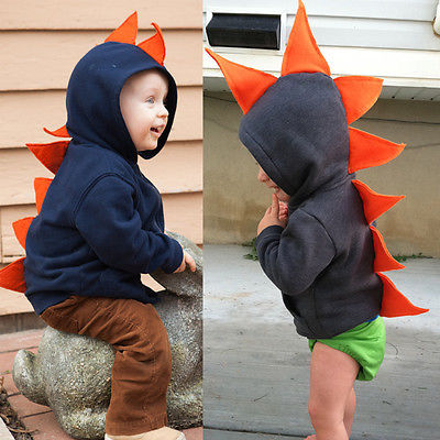 Fashion Baby Children Kids Baby Girl Boy Dinosaur Long Sleeve Hoodie Jacket Coat Outerwear Dino Costume
