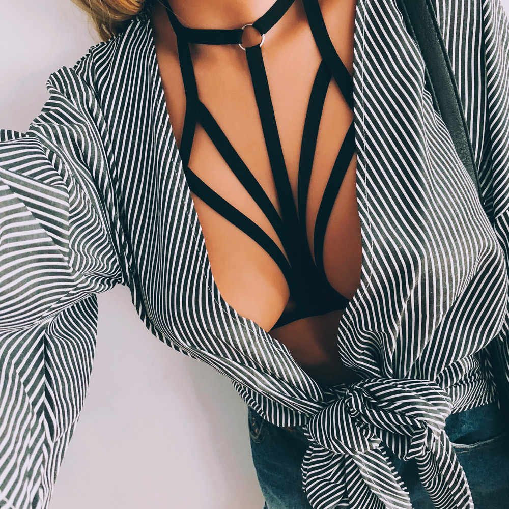 New Sexy Women Girl Hollow Out Elastic Cage Bra Bandage Strappy Halter Bra Women's Fashion Intimates Drop shopping *30