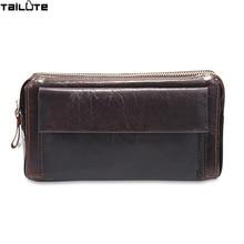 TAILUTE Men Wallet Genuine Leather Dull Polish Purse Fashion Casual Long Business Male Clutch Wallets Men's handbags