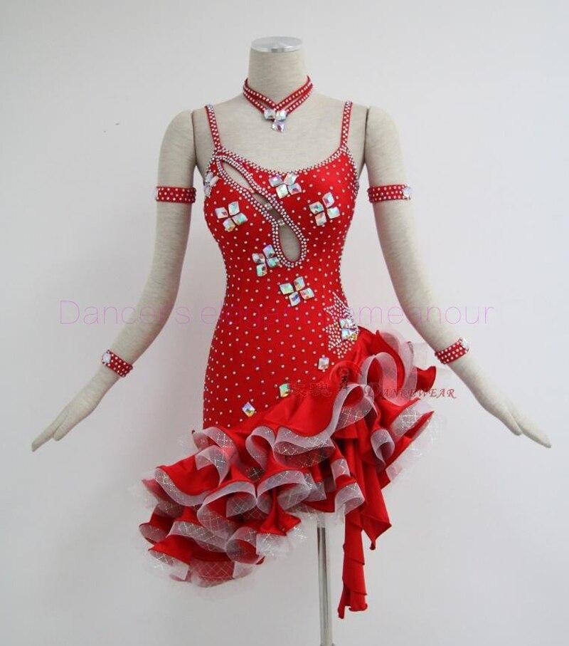 6d18e3032 New style latin dance costumes senior sexy colors tassel latin dance ...
