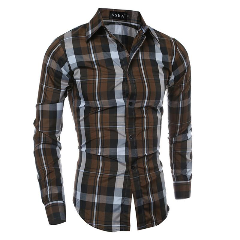 2016 Business Casual High Quality Button Down Shirts For Men In The Spring Casual Mens Shirts Long Sleeve Big Size Men Clothing