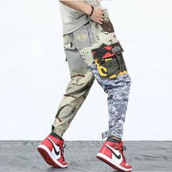 2018 новая тенденция камуфляж брюки-карго Штаны Для мужчин хлопок Повседневное Тонкий Пот Штаны Jogger Штаны Для мужчин