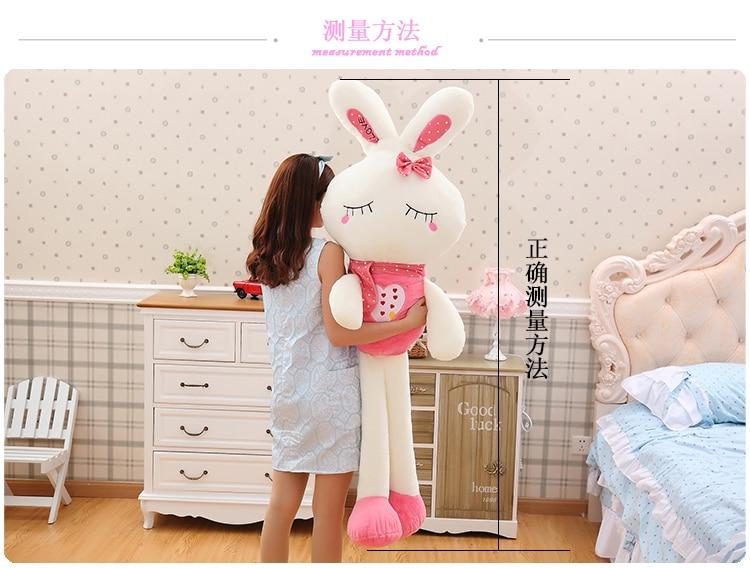high quality goods large 170cm white rabbit plush toy ,soft hugging pillow.birthday gift 2627high quality goods large 170cm white rabbit plush toy ,soft hugging pillow.birthday gift 2627