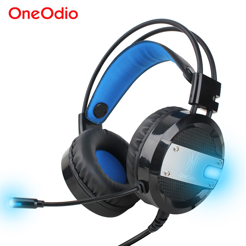 Oneodio LED Gaming Headset Hifi Wired USB Game Headphones With Microphone For Xbox PS4 Computer PC Stereo Gaming Headphone Gamer mvpower stereo gaming headset super bass wired headphone with microphone for sony playstation 4 for ps4 for ps3 game earphone