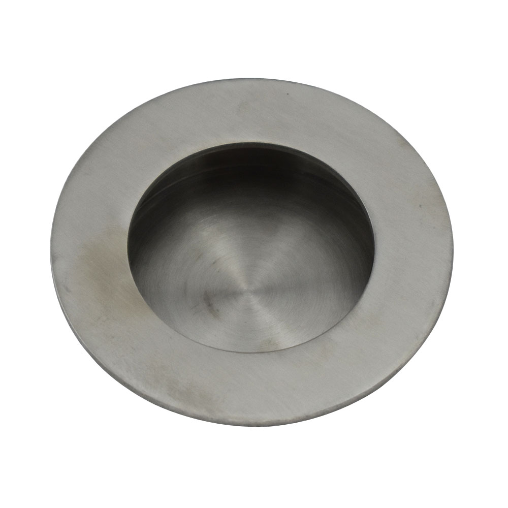 4pcs Stainless Steel 40mm Hole to Hole Distance Flush Door Furniture Pull Handle 50mm Outside Dia. Concealed Cabinet Knobs