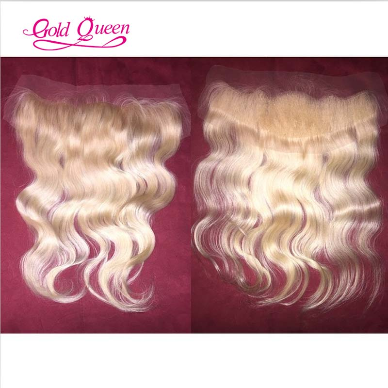 613 blonde lace frontal 13x4 Peruvian virgin hair body wave full lace frontal closure bleached knots swiss lace free shipping