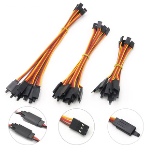 10Pcs 100 /150 / 200 / 300 / 500 / 1000mm Anti-loose 60 core Servo Extension Lead Wire Cable For RC Futaba JR Male to Female