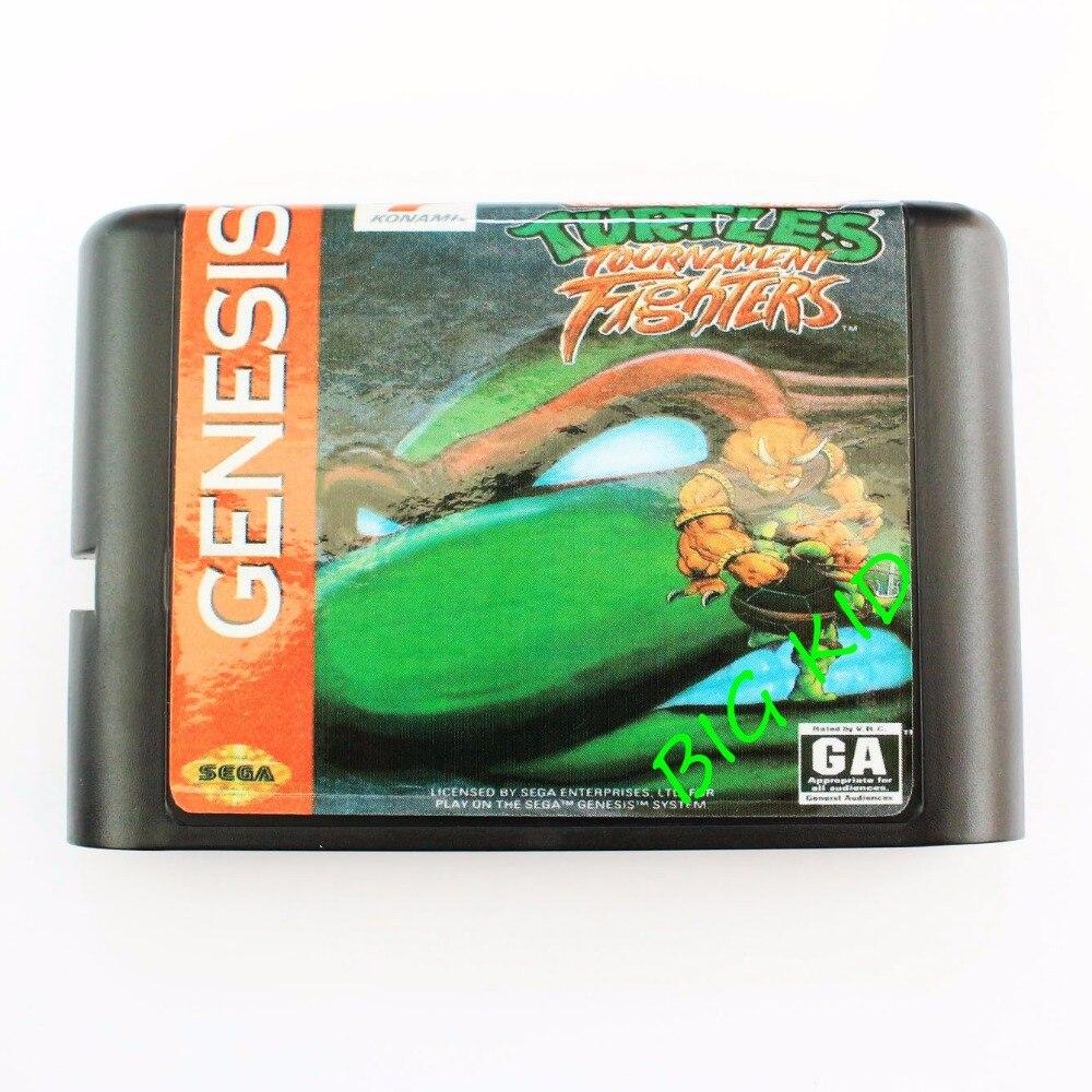Videospiele Speicherkarten DemüTigen Turtles Turnier Fighters 4 16 Bit Sega Md Game Card Für Sega Mega Drive Für Genesis