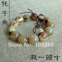 Limited natural 16mm yak horn beads bracelet fine bracelet prayer bead bracelet buddha bead bangle special offer