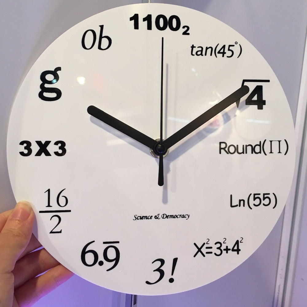 2017 fashion home decor creative math equations home decor wall 2017 fashion home decor creative math equations home decor wall clocks 8 inch acrylic wall clock in wall clocks from home garden on aliexpress amipublicfo Choice Image
